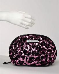NEW Betsey Johnson Sequined Leopard Print Cosmetic Bag Size NS FREE SHIPPING $49.99