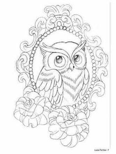 Love the frame! Pencil Art Drawings, Animal Drawings, Tattoo Drawings, Art Sketches, Owl Tattoos, Tattoo Ink, Fish Tattoos, Sleeve Tattoos, Owl Coloring Pages