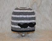 """Crochet """"little man"""" moustache hat"""