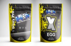 Packaging design for sports nutrition