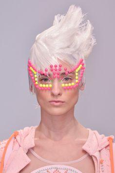 manish arora candy dots white hair