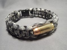 Paracord Bullet Bracelet 40 S&W Urban Camo Paracord by theammocan, $17.00