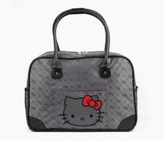 Hello Kitty Overnight Bag: Graphite Jacquard