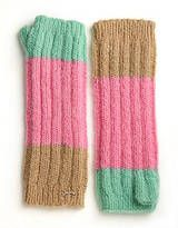 Juicy Couture Colorblock Fingerless Gloves $78 sale- $54.60