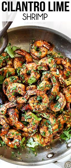 Ridiculously easy Cilantro Lime Shrimp exploding with bright, zesty, citrus, garlic flavor on your table in less than 30 minutes! #recipes #recipeoftheday #recipeideas #recipeseasy #recipesfordinner #dinner #dinnerrecipes #dinnerideas #dinnertime #easyrecipe #easydinner #30minutemeals #30minutemeals #shrimp #shrimprecipes #grilling #seafood #seafoodrecipes #grilledshrimp #cilantro #lime #cilantrolime #cilantrolimeshrimp Lime Shrimp Recipes, Cilantro Lime Shrimp, Fish Recipes, Seafood Recipes, Cooking Recipes, Garlic Shrimp, Grill Recipes, Mexican Recipes, Paleo Recipes