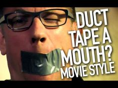 ducktape a mouth in movies - busted