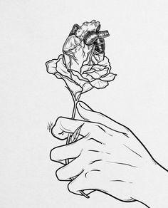 Flowery heart given. Art Print by Muhammed Salah - X-Small Muhammed Salah, Inktober, Art Sketches, Egypt, Good Things, Art Prints, Creative, Artwork, Instagram