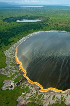 Crater Lakes in Albertine Rift, Africa Destinations, Natural Wonders, Nature Pictures, Aesthetic Pictures, The Good Place, Waterfall, Lacs, Earth, River