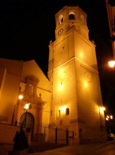 Velez-Malaga San Juan Church and Tower at night