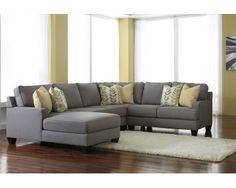 Grey 4 Piece Sectional   Sam Levitz Furniture