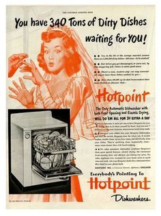 1950's Hotpoint Dishwasher Advertising Poster A3/A2/A1 Print Listing in the Modern (1900 to 1989),Posters,Art Category on eBid United Kingdom