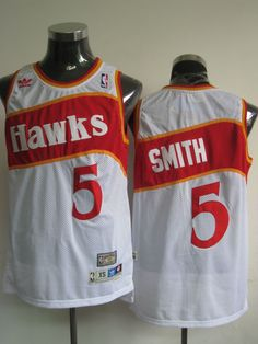 a90cafc4d Hawks Josh Smith White Stitched Throwback NBA Jersey Over Off Wilson Pro  Sleeveless Pinstripe Baseball Jersey