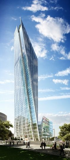 Z11 is a mixed-use commercial tower (240 m in height) that introduces a new icon to Beijing's Central Business District (CBD). Consisting of 105 000m² of office space, 30 000m² of residential space and 5 000m² of retail space, the building signifies a place where life and work are seamless.