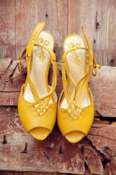 yellow Seychelles heels