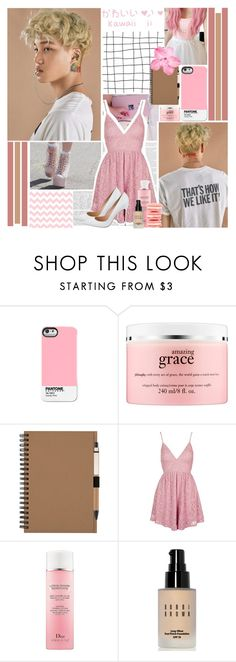 """~ I'll be the lucky one ~"" by small-lullabies ❤ liked on Polyvore featuring Pantone Universe, philosophy, Topshop, Christian Dior, John Galliano, Bobbi Brown Cosmetics and Gianvito Rossi"