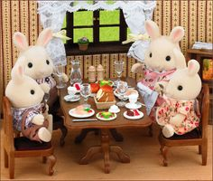 Sylvanian Families! I just saw a remake of these called Li'l Woodzees! @Jennifer Nerad  I found it!