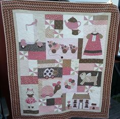 Barneteppe laget til Amelias dag. Mittens, Bunny, Quilts, Blanket, Design, Fingerless Mitts, Quilt Sets, Fingerless Mittens, Quilt