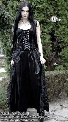 Arnela Pretty Black Lace and Velvet Long Gothic Dress Gothic Dress, Gothic Outfits, Gothic Lolita, Gothic People, Goth Women, Pretty Black, Gothic Girls, Gothic Beauty, Alternative Fashion