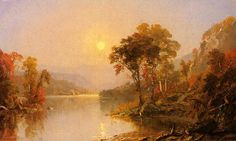 'Winding River', Oil On Canvas by Jasper Francis Cropsey (1823-1900, United States)