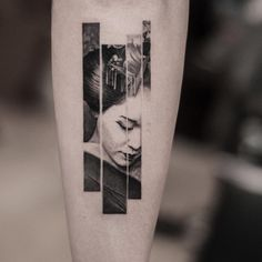 blackwork geisha tattoo by @oscarakermo