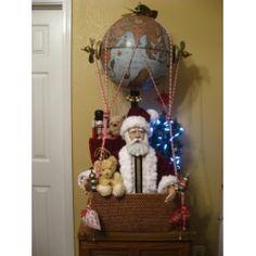 Large Globe Santa