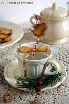 A festively elegant take on a tea party. #food #tea #Christmas #cookies