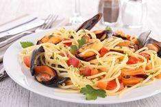 Spaghetti mit Meeresfrüchte - leckere #Spaghetti mit Venusmuscheln, Miesmuscheln und vieles mehr.