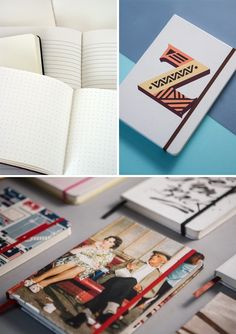 Book Block, designed by Mustard Design Agency, is a customizable notebook where you design the cover, and choose the elastic and ribbon color.  #notebooks #creative #design