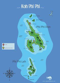 Koh Phi Phi é um arquipélago na Tailândia cheio de praias lindas, ilhas encantadoras e festas super animadas. Clique na imagem e entenda um pouquinho mais sobre este lugar incrível!