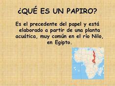 Hacer un papiro con niños Giza, Homeschool, Presentation, Africa, The Unit, Activities, History, School, World