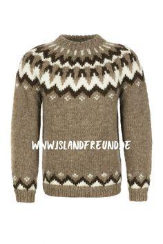 Handgestrickte Pullover, Icelandic Sweaters, Sweaters For Women, Men Sweater, Fair Isle Knitting, Knit Fashion, Knit Crochet, Crochet Patterns, Women Wear