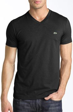 Lacoste V-Neck T-Shirt   Nordstrom, I would think the Vnecks would be more comfortable