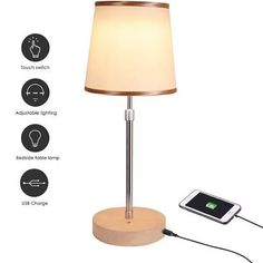 JOWHOL Bedside Lamp for Bedroom,Table Lamp,Dimmable LED Touch Lamp with USB,Cream Lamp-Shade, Modern Height-Adjustable Lamp for Living Room,Lounge | Google Shopping Living Room Lounge, Table Lamp, Lamps Living Room, Night Lamps, Height Adjustable Lamp, Cream Lamp Shades, Led Desk Lamp, Touch Lamp, Bedside Lamps With Usb