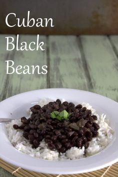Cuban black beans make a delicious, nutritious, and budget friendly addition to the menu! This easy black beans recipe includes instructions for cooking on the stove top and how to make black beans in the Instant Pot. Cuban Black Beans, Dried Black Beans, Black Beans And Rice, Canned Black Beans, Cuban Rice And Beans, Rice And Beans Recipe, Goya Black Beans Recipe, Cooking Black Beans, Black Beans Recipe Easy