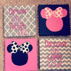 Minnie Mouse Wall art for toddler room