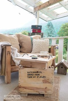 The little crate, that morphed into a table... with 2 secrets / By FunkyJunkInteriors.net on Hometalk