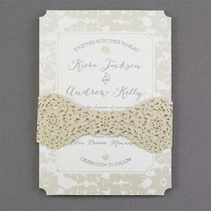 Evelyn's Lace Wedding Invitation