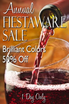 Here's a fiestaware promotion that's not seen at the department stores too often.