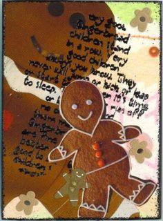 my ATC , SANNA Atc, Gingerbread Cookies, Ornaments, Desserts, Food, Gingerbread Cupcakes, Tailgate Desserts, Deserts, Essen