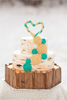 Wedding Cakes   Turquoise and Yellow