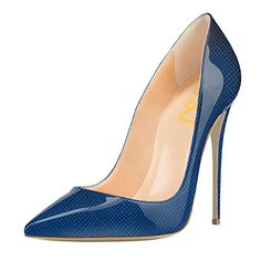 FSJ Natural Beauty Classic Slender Pointed Toe 12 CM Heeled Stilettos Pumps Dressing Shoes Szie 10 Blue... About FSJ: FSJ is brand of Footwear (both Women and Men Shoes) in the field of Fashion Industry, having more than 20 years production experience, providing the customized service to each of our customers. We firmly hold the philosophy that shoes are not just about fashion but the attitude of......http://bit.ly/2plogAB
