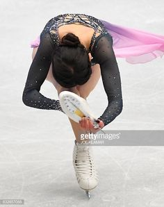 Russia's Evgenia Medvedeva competes during the ladies free skating competition of the European Figure Skating Championship in Ostrava, Czech Republic on January 27, 2017. / AFP / JOE