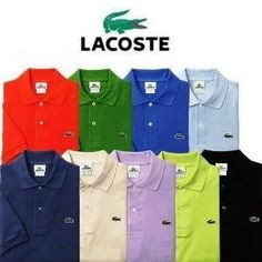 These are some of the new LACOSTE designed shirts. The people who took over LACOSTES designed were Ralph Lauren the maker of polo. Ralph Lauren Style, Polo Ralph Lauren, Clothing Store Displays, Lacoste Shoes, Wholesale T Shirts, Bra Video, Polo T Shirts, Cheap T Shirts, Men Looks