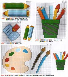 Schema punto croce Pennerelli matite