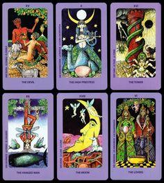 NEU Rarität Hexen Witches TAROT 78 Künstler Tarotkarten Jolanda Sammlerstück NEW
