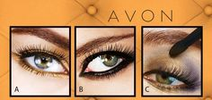 Which AVON eyelook is your favorite? A, B or C? Add your comment. #eyelook