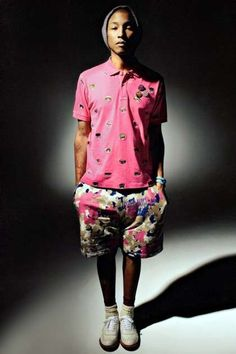 Pharrell Williams Shows Off His Clothing Brand in Cool Trans Magazine #coachella #mensfashion trendhunter.com