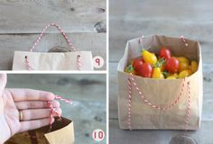 DIY Paper Bag Baskets - Trick or Treat & Apple Picking Baskets