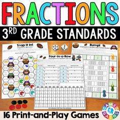 3rd Grade Fractions Games {Equivalent Fractions, Comparing Fractions, & More!}