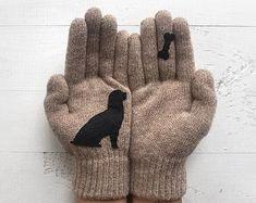 Dog Gloves Animal Gloves Dog Gift Dog Mittens Women Gloves Animal Mittens Puppy Gloves Wool Gloves Dog Lady Gift Pet Gift Dogs Dog Gloves Animal G Wool Gloves, Mitten Gloves, Mittens, Best Winter Gloves, Cold Weather Gloves, Dog Lady, Unisex, Winter Accessories